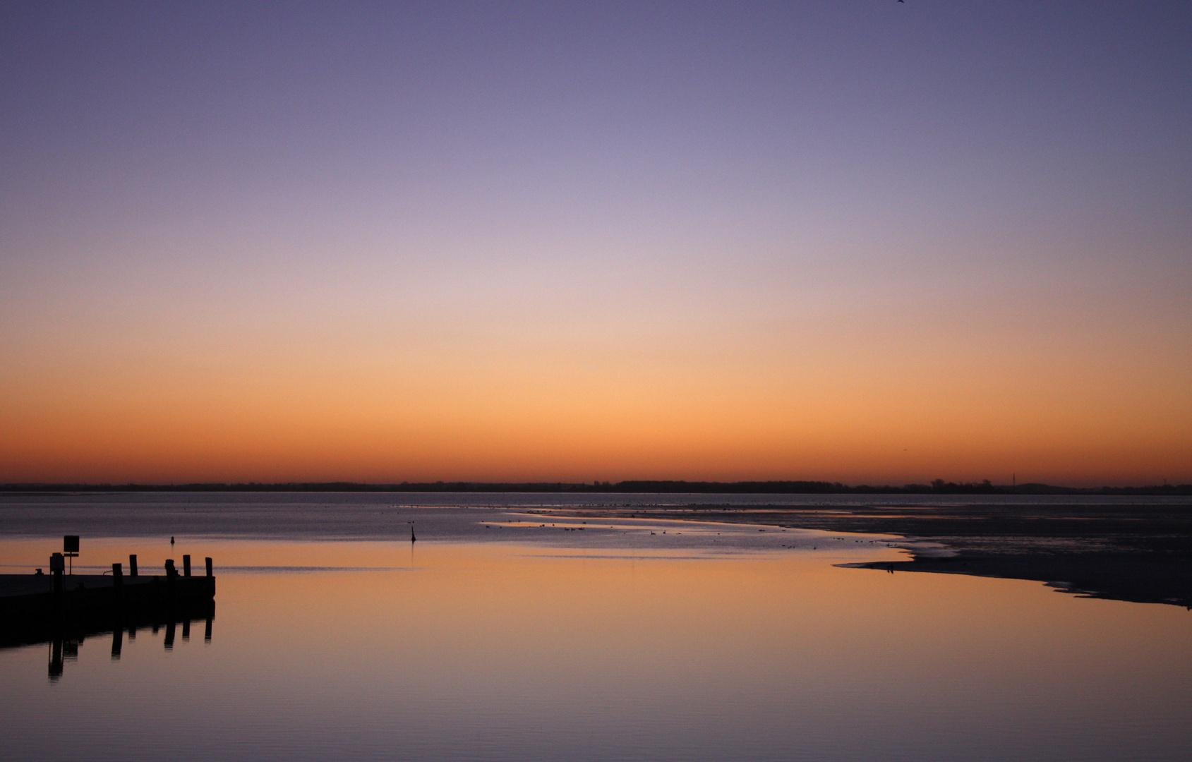 Sonnenaufgang im Vitter Hafen
