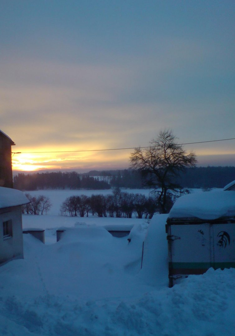 Sonnenaufgang im Winter teil 1