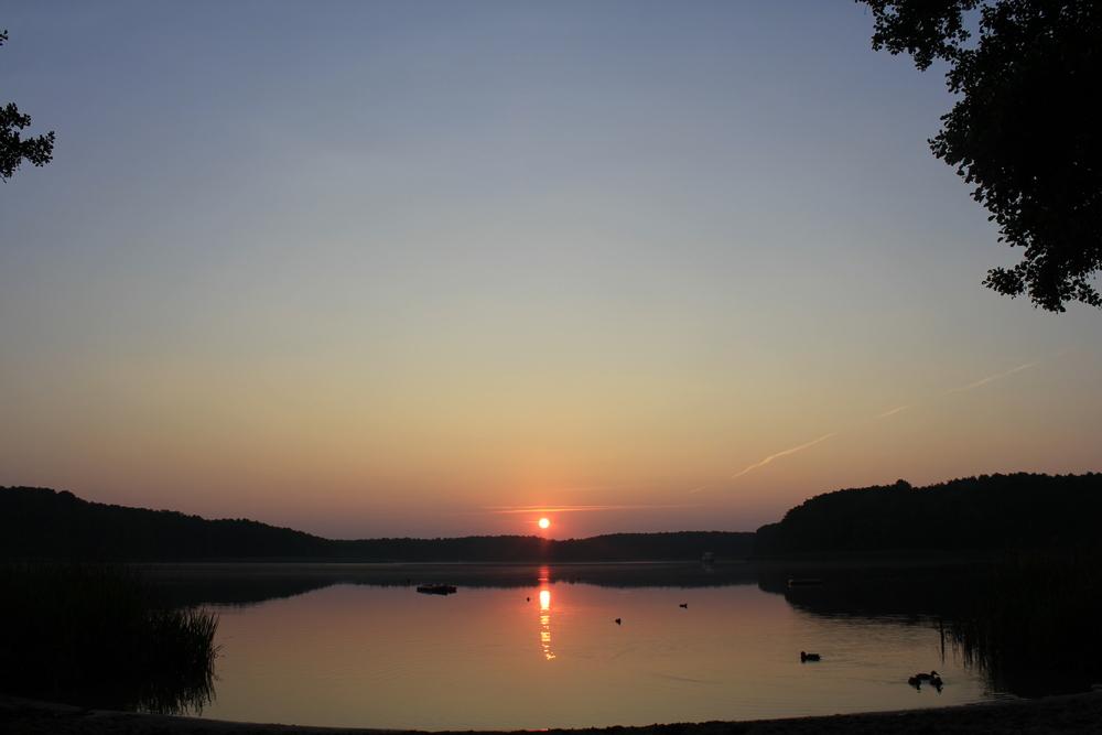 Sonnenaufgang im Zeltlager