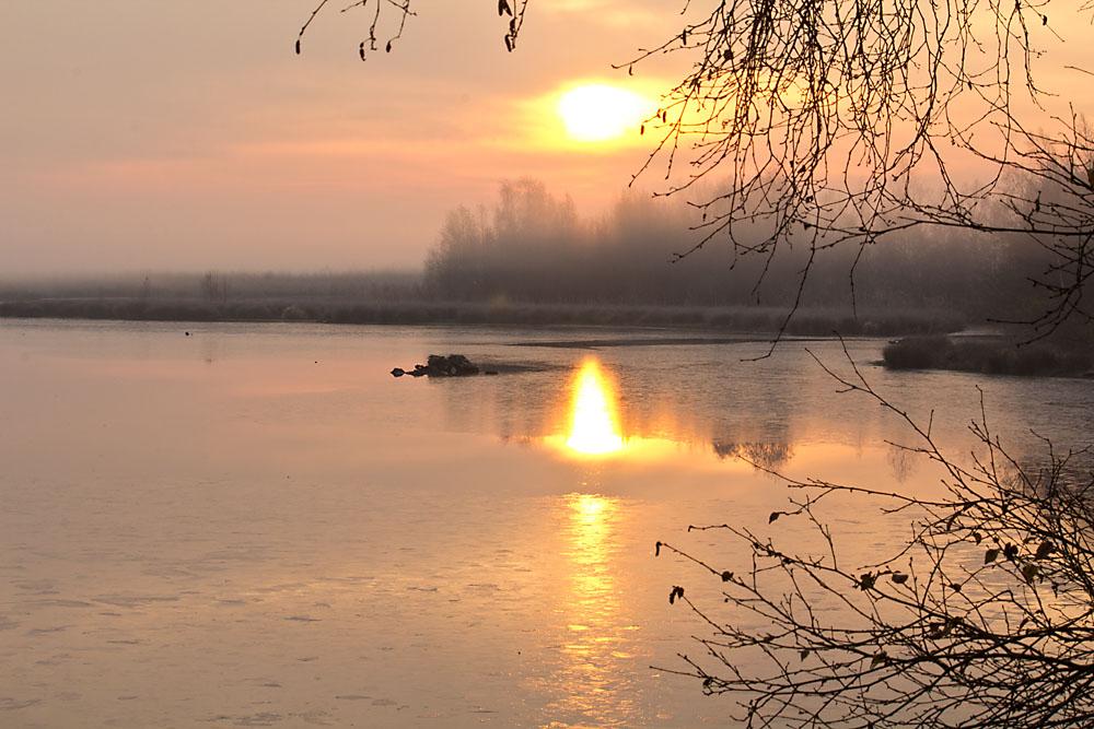 Sonnenaufgang im Zwillbrocker Venn