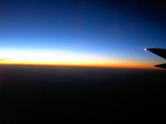Sonnenaufgang in 10000 Meter Höhe