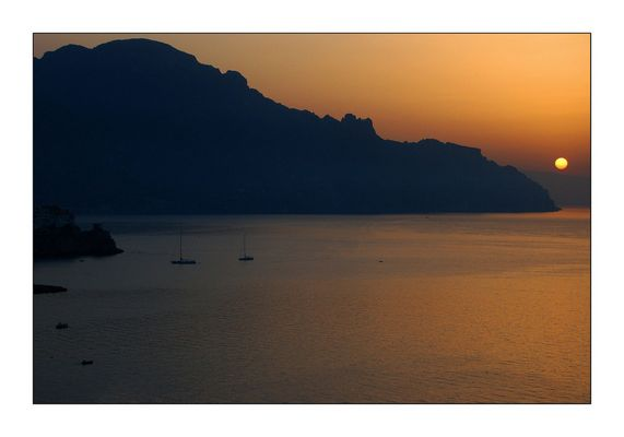 Sonnenaufgang in Amalfi