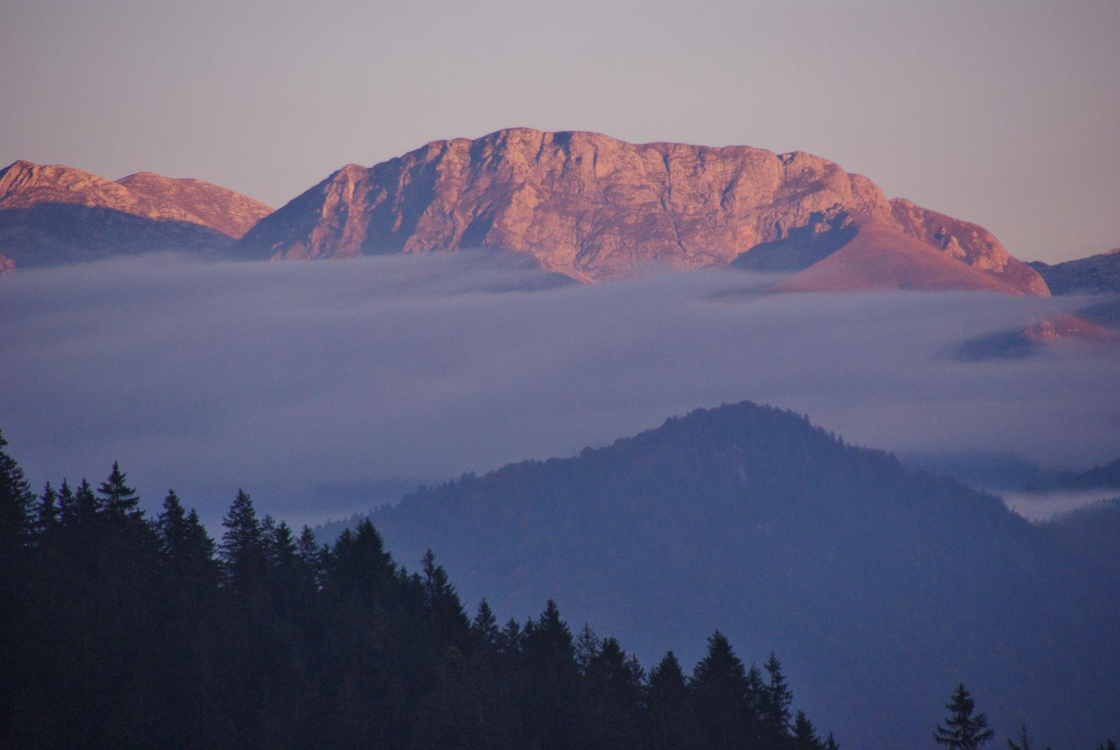Sonnenaufgang in Berchtesgaden