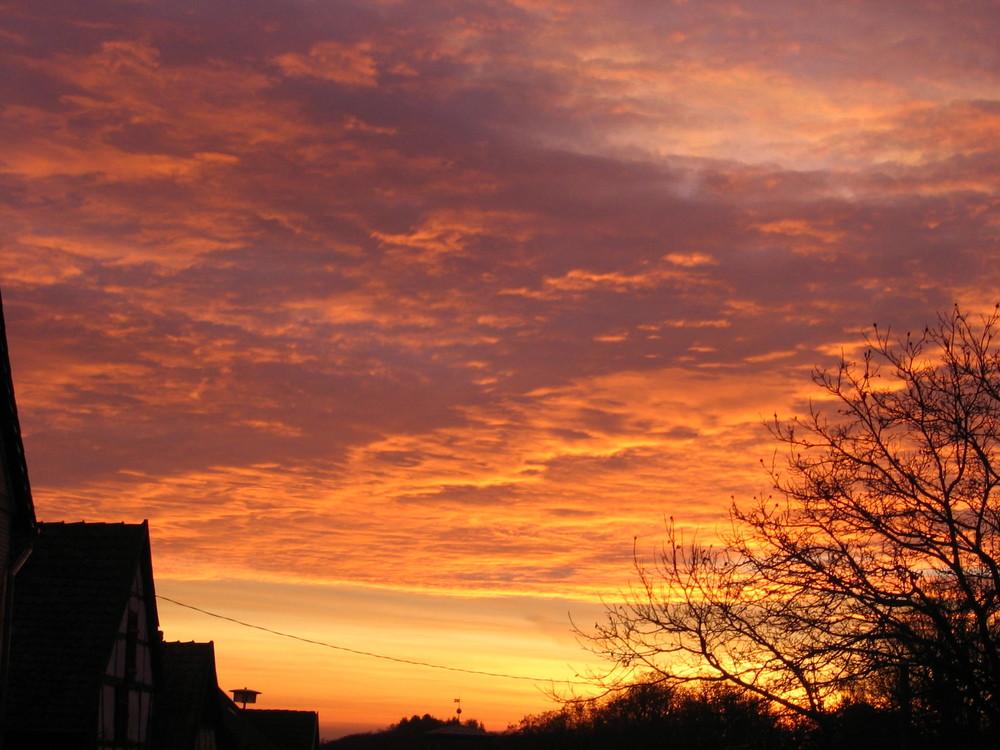 Sonnenaufgang in Börnecke