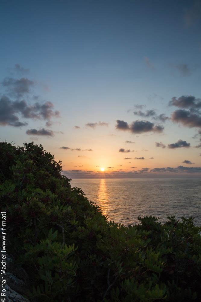 Sonnenaufgang in Cala Mendia