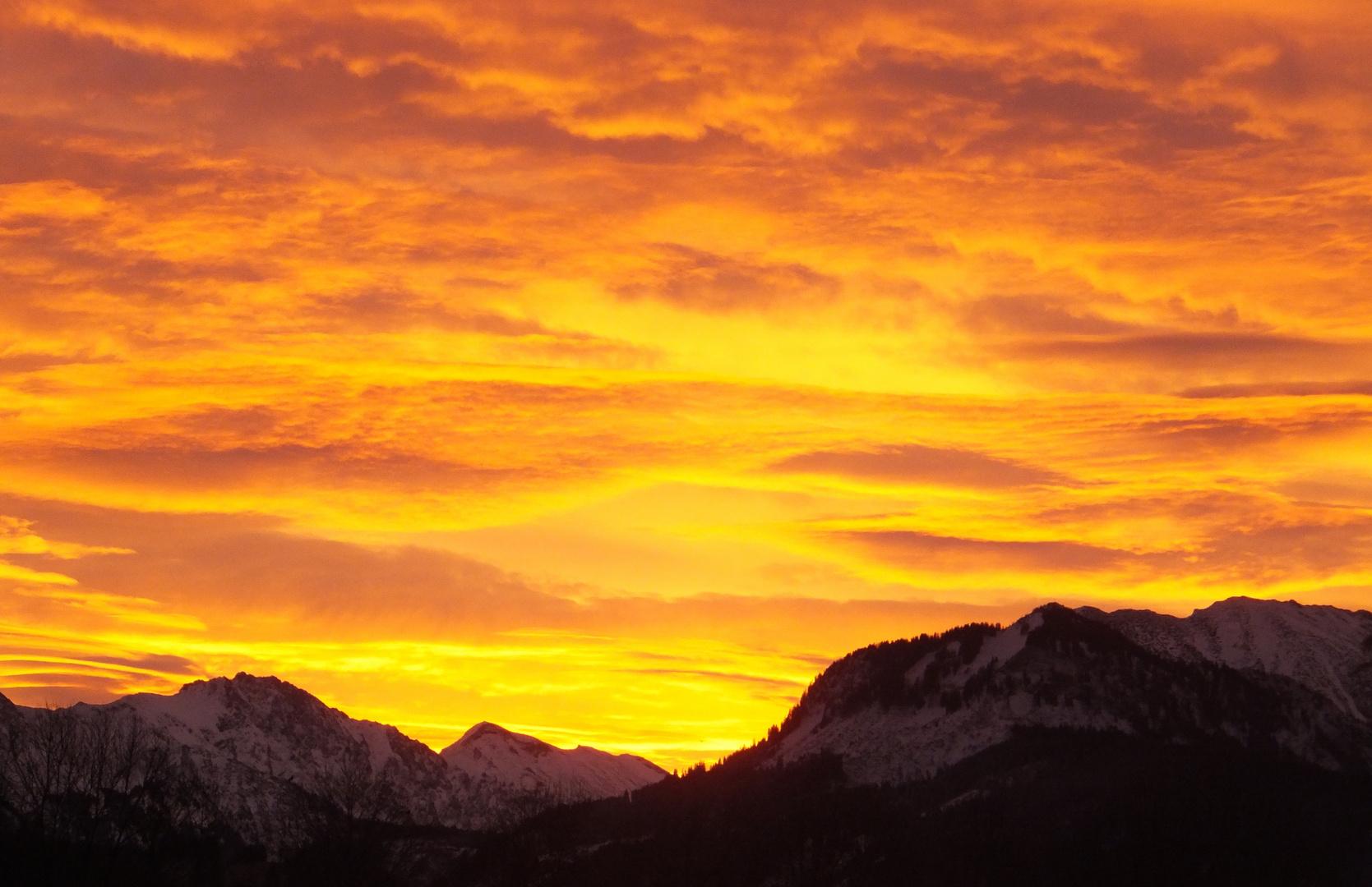 Sonnenaufgang ín den Bergen