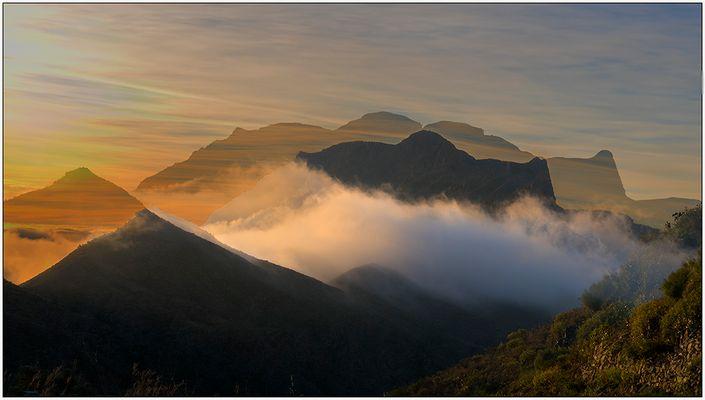 Sonnenaufgang in den Bergen von Gran Canaria