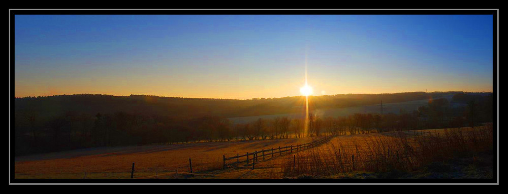 Sonnenaufgang in den Braken