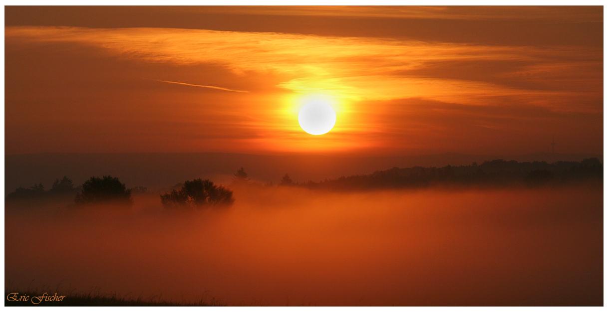 Sonnenaufgang in den Wirtswiesen bei Lich