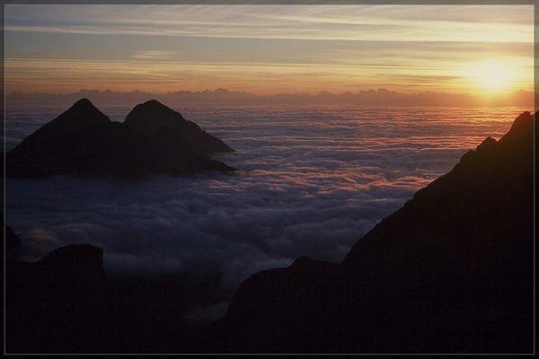 Sonnenaufgang in der Brenta