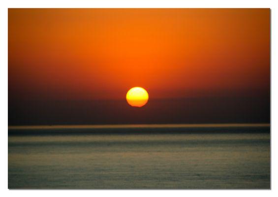 Sonnenaufgang in der Bucht von Diano Marina
