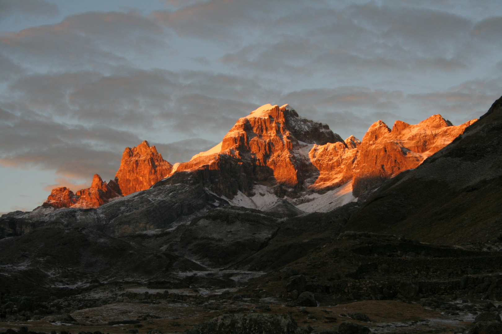 Sonnenaufgang in der Cordillera Huayhuash