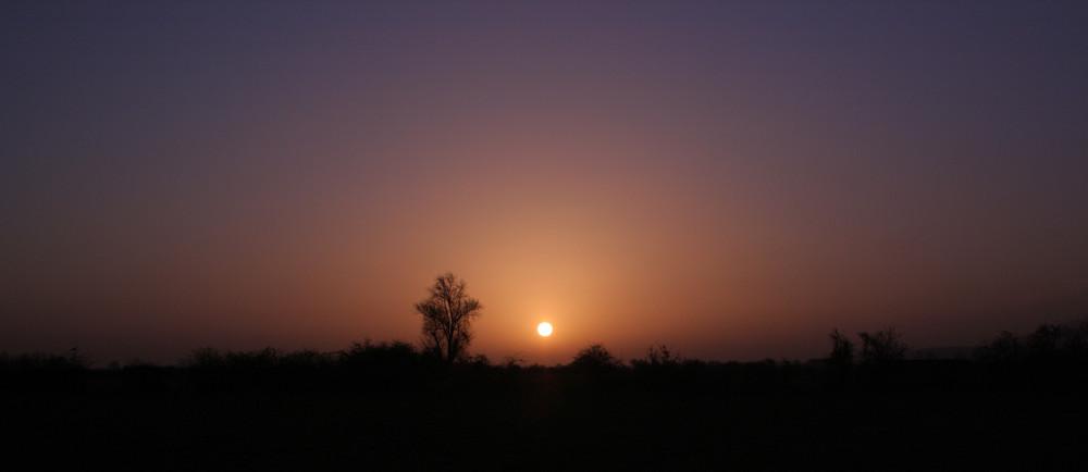 Sonnenaufgang in der Düffel