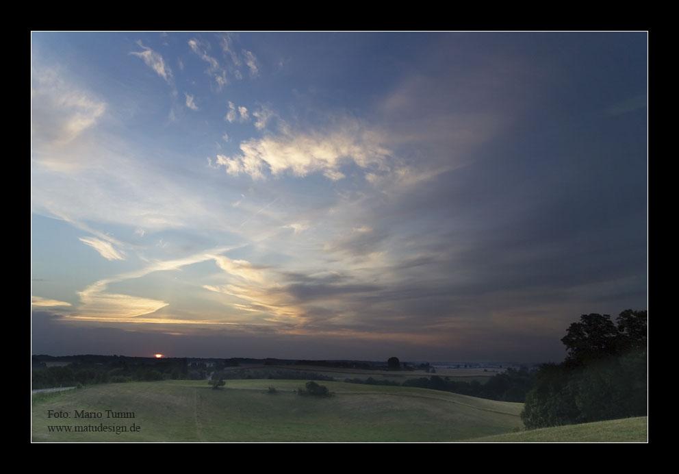 Sonnenaufgang in der Endmoränenlandschaft