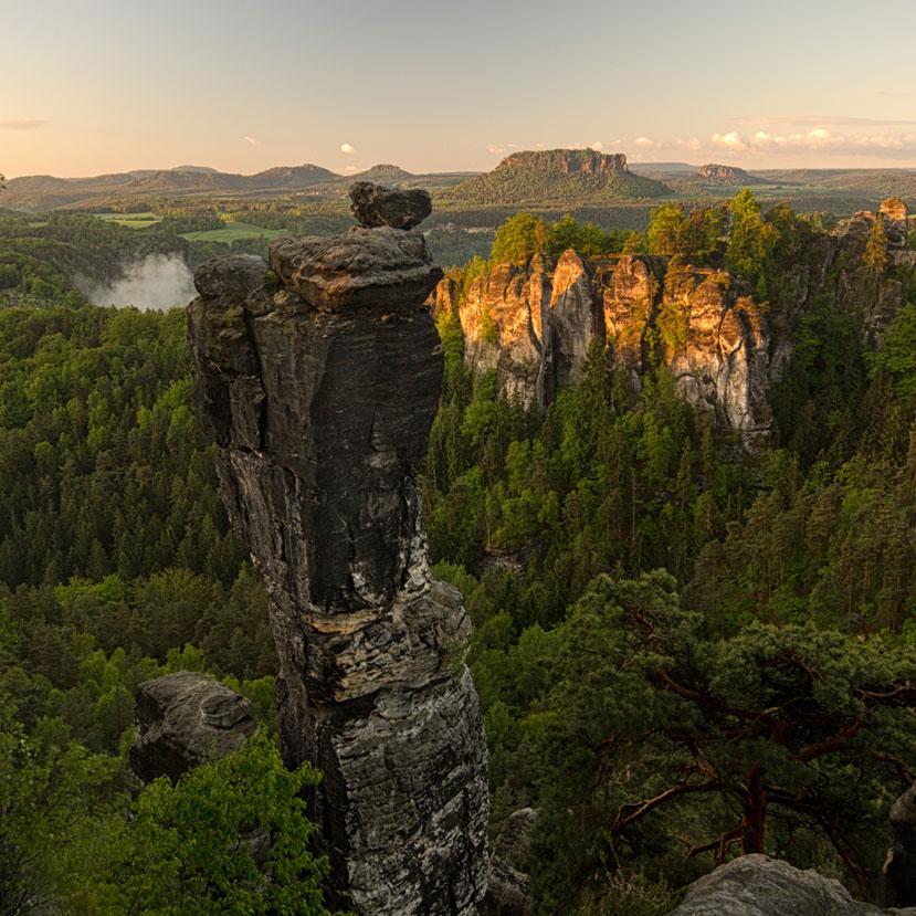 Sonnenaufgang in der Sächsischen Schweiz