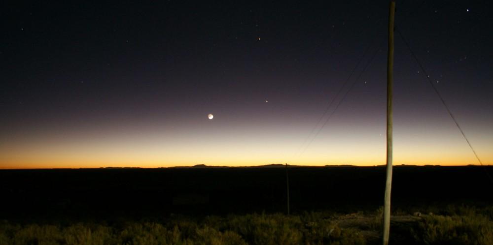 Sonnenaufgang in der Uyuni - Salzwüste