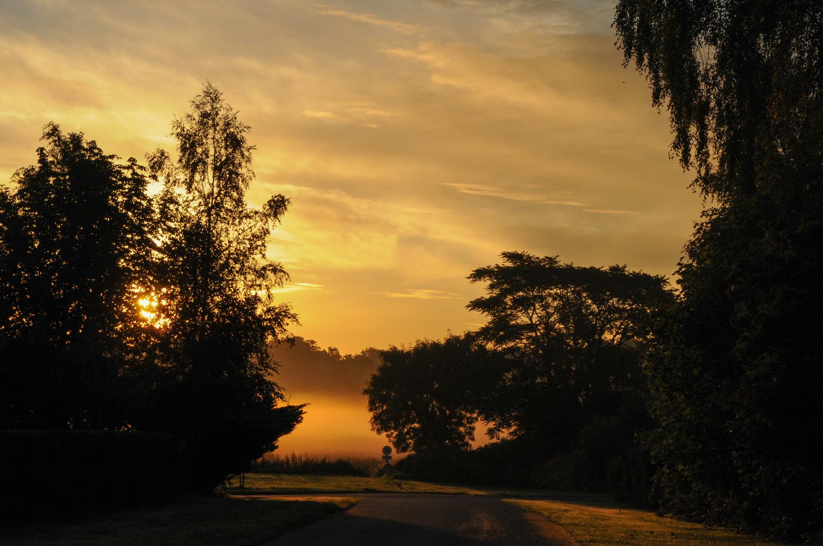Sonnenaufgang in Dronningmölle