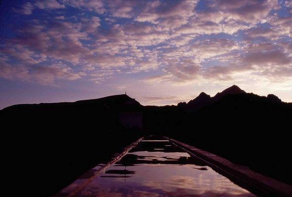 Sonnenaufgang in Faschina