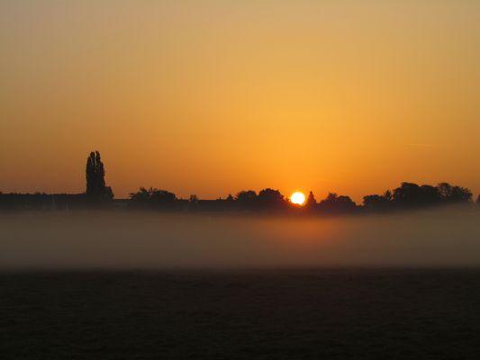 Sonnenaufgang in Fürth