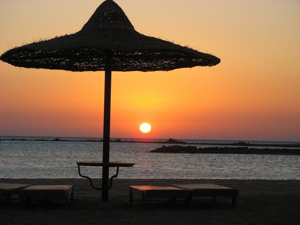 Sonnenaufgang in Hurgada, Ägypten