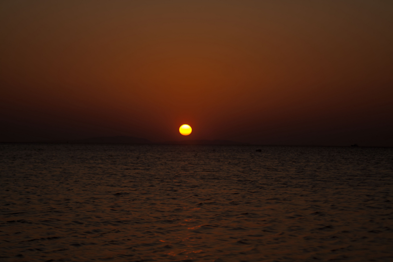 Sonnenaufgang in Hurghada am Roten Meer