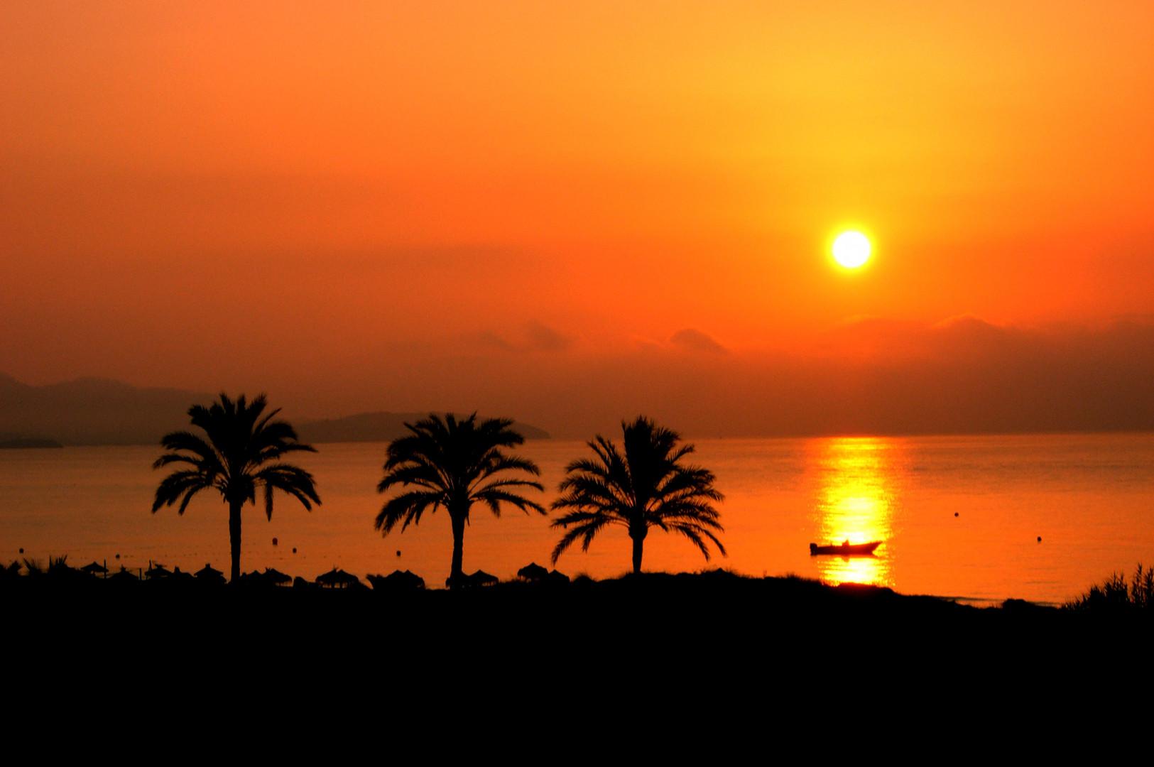 Sonnenaufgang in Ibiza