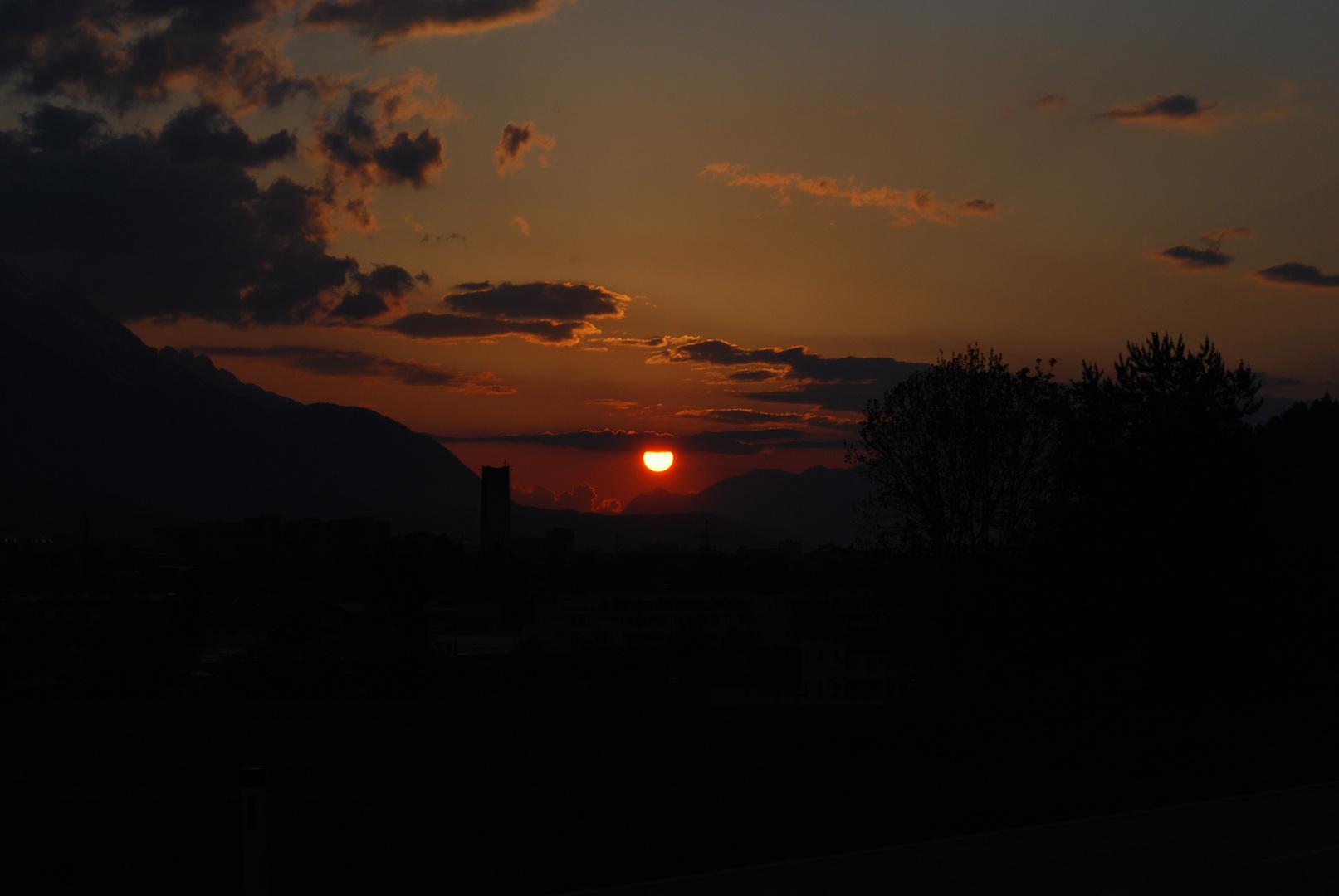 Sonnenaufgang in Innsbruck