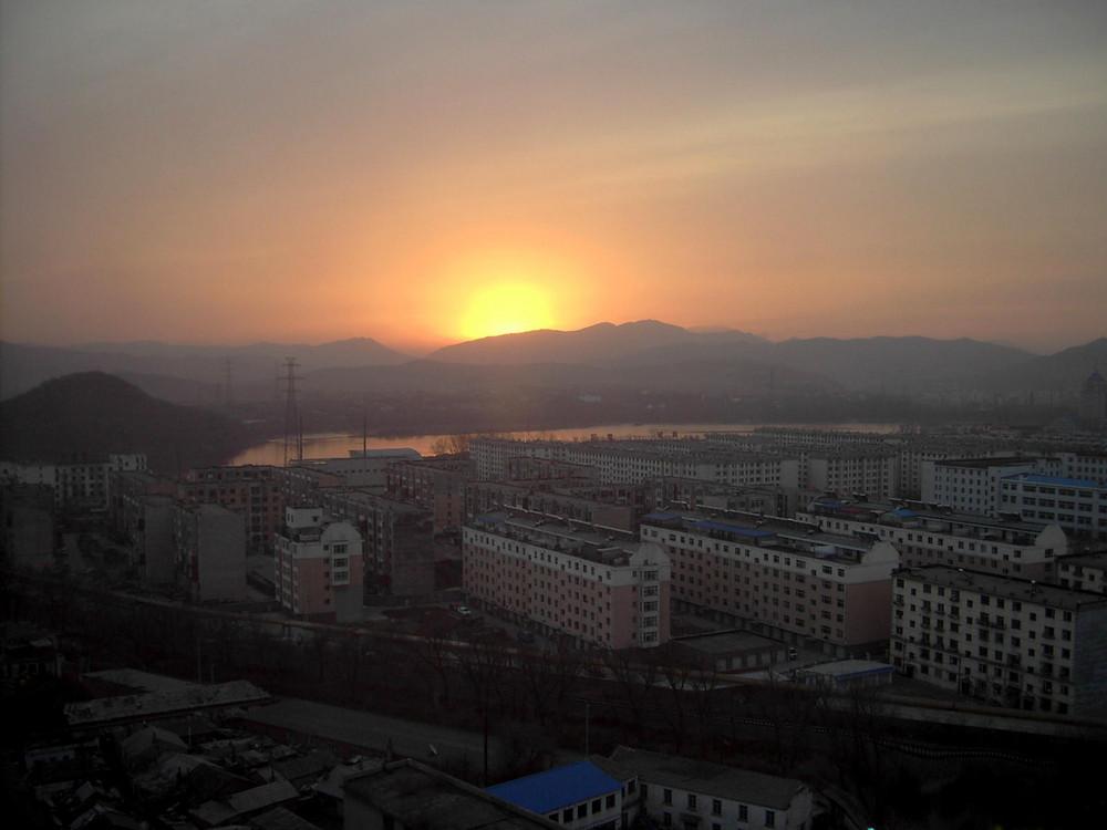 Sonnenaufgang in Jilin