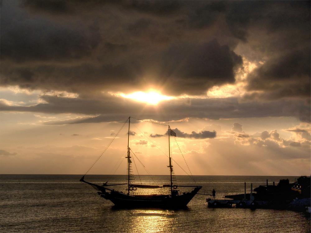 Sonnenaufgang in Kalithea