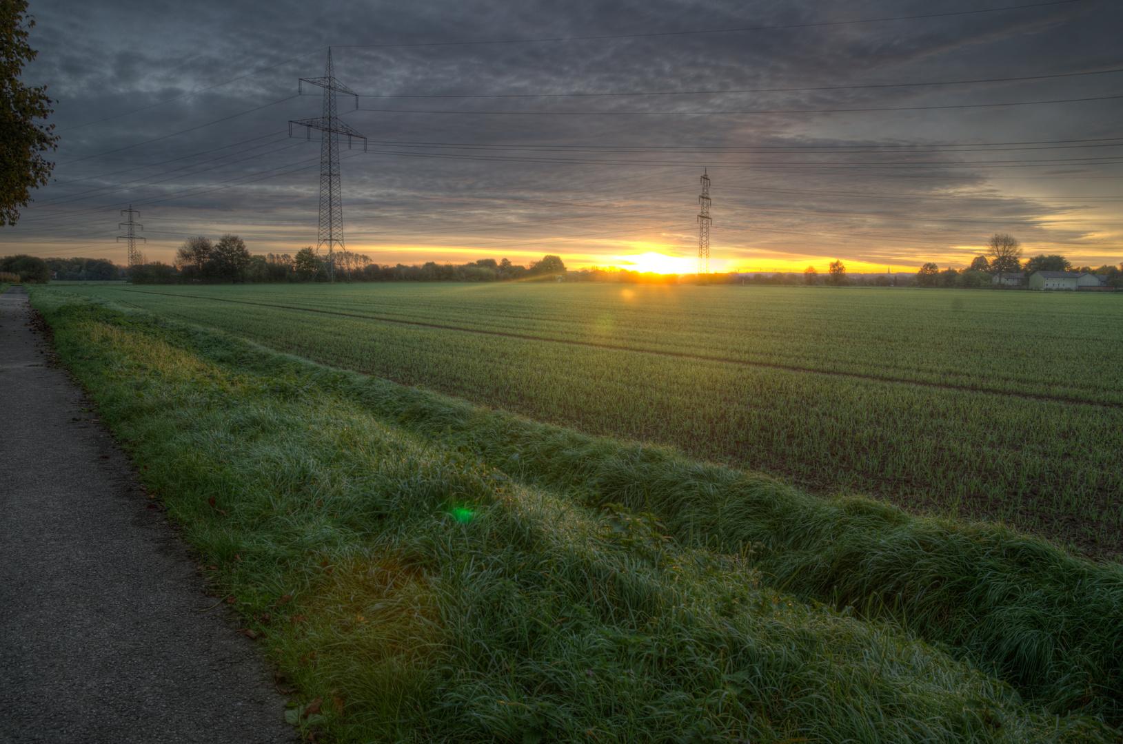 Sonnenaufgang in Kamen-Methler (Wasserkurl)
