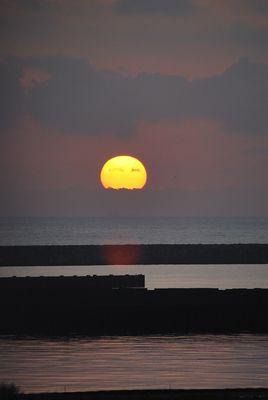 Sonnenaufgang in La Manga am Mittelmeer