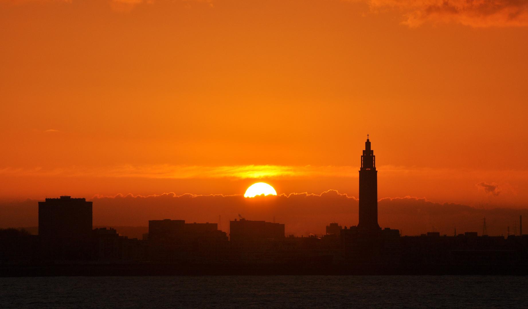 Sonnenaufgang in Le Havre
