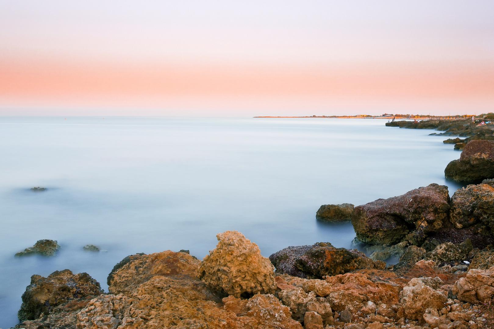 Sonnenaufgang in Lido Marini (Süditalien)
