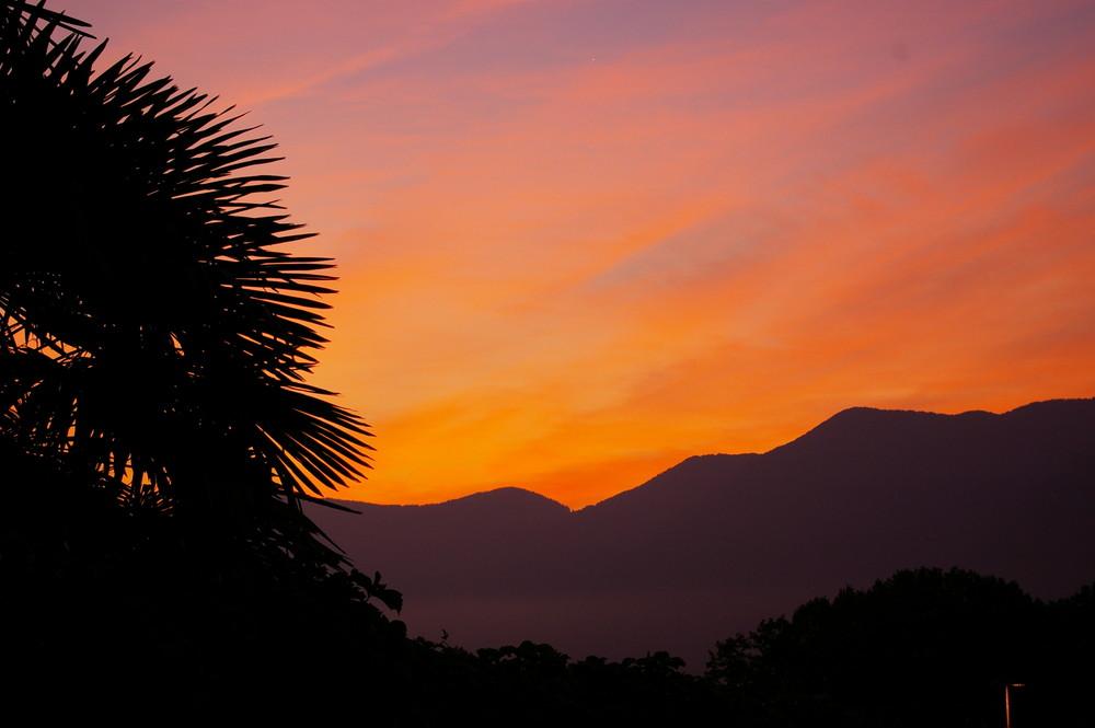 Sonnenaufgang in Lugano
