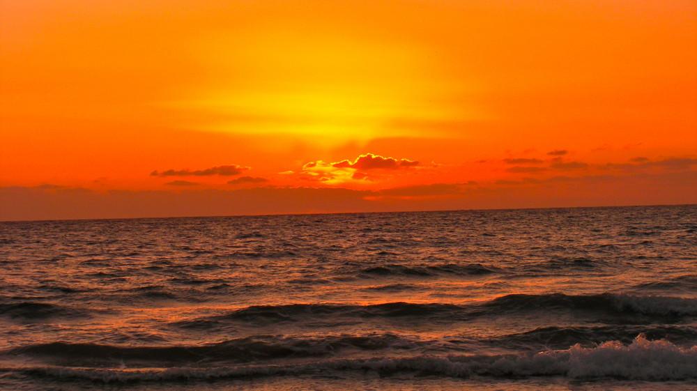 Sonnenaufgang in Mahdia Tunesien