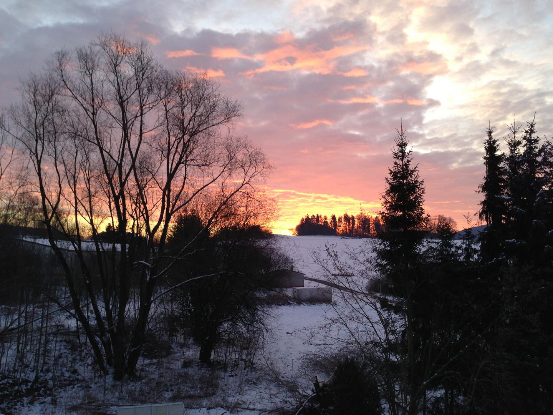 Sonnenaufgang in meiner Heimat