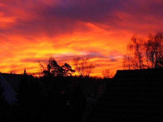Sonnenaufgang in Nürnberg