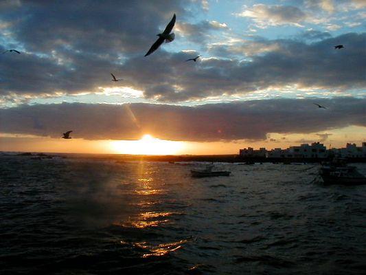 sonnenaufgang in Orzola, Lanzarote