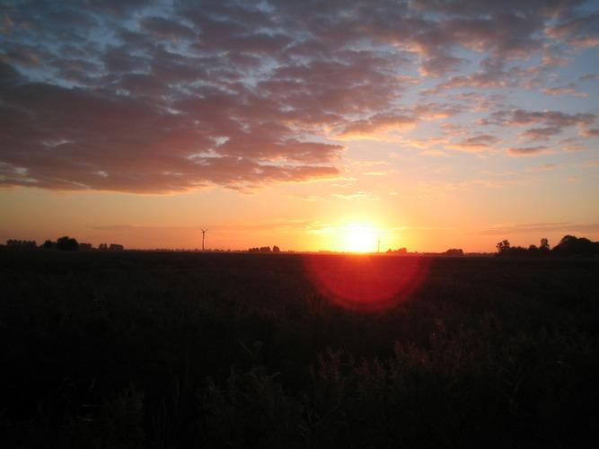Sonnenaufgang in Ostfriesland