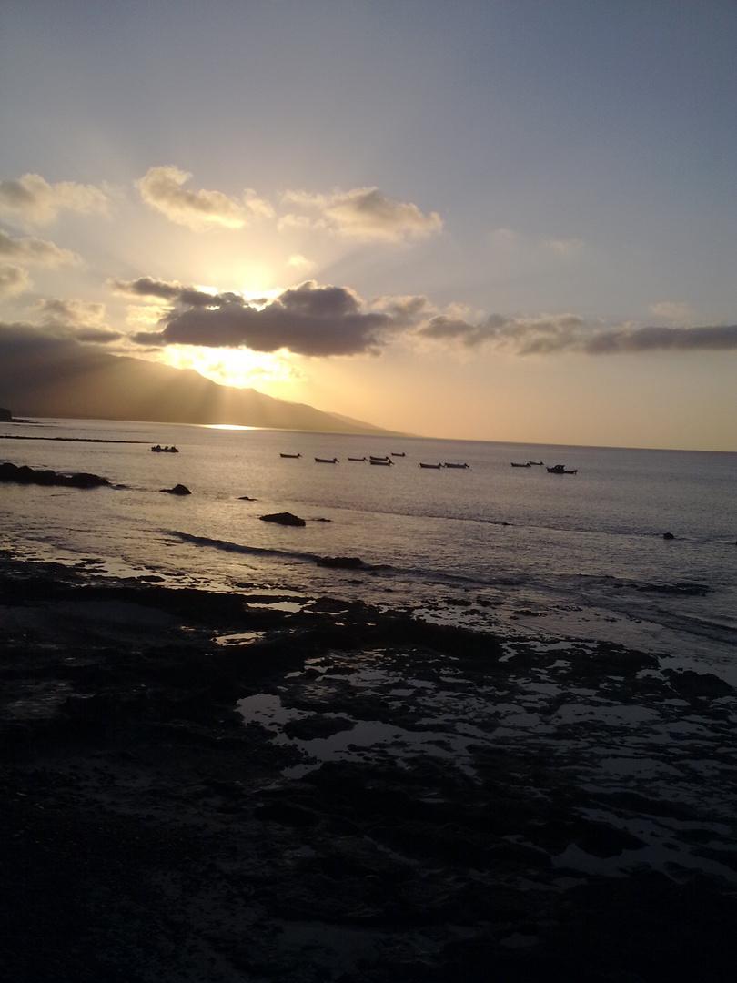 Sonnenaufgang in Puertito