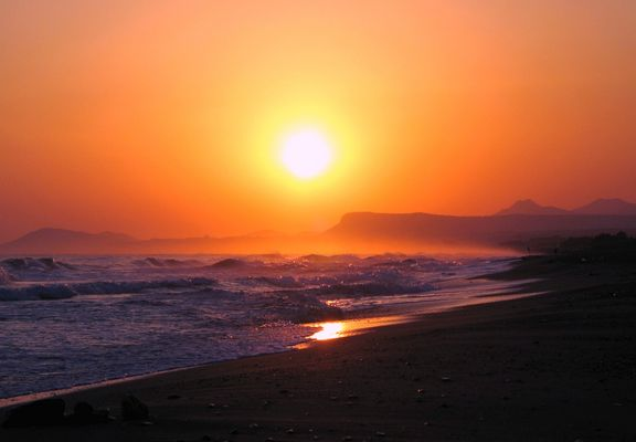 Sonnenaufgang in Rethymnon (Kreta)