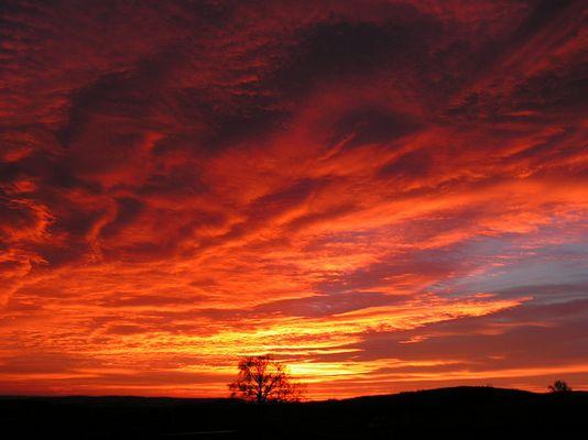 Sonnenaufgang in Sauerbrunn