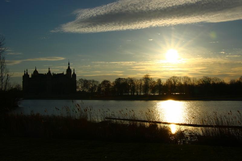 Sonnenaufgang in Schwerin am Burgsee...