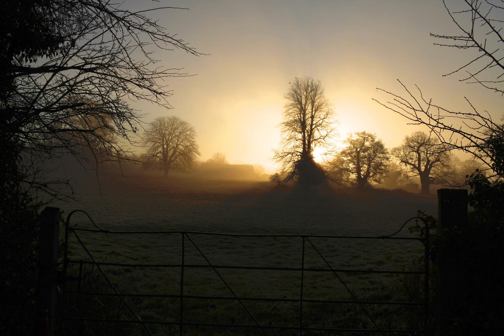 Sonnenaufgang in Suffolk England