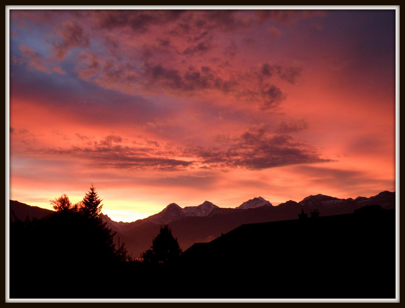 Sonnenaufgang in Thun