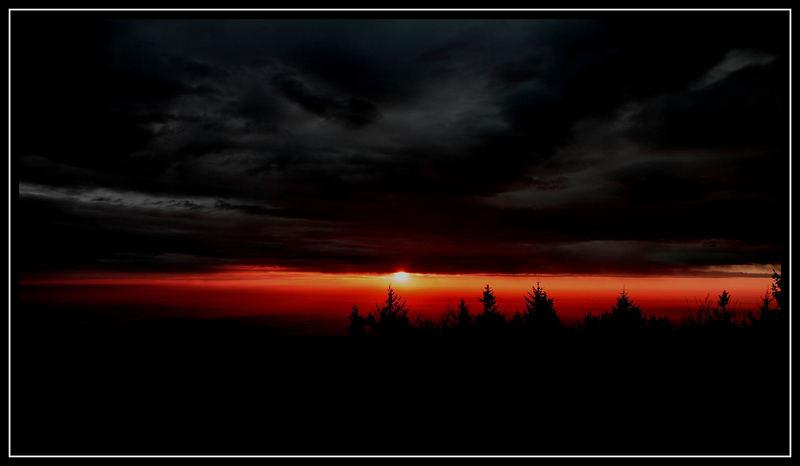 Sonnenaufgang in Ungarn
