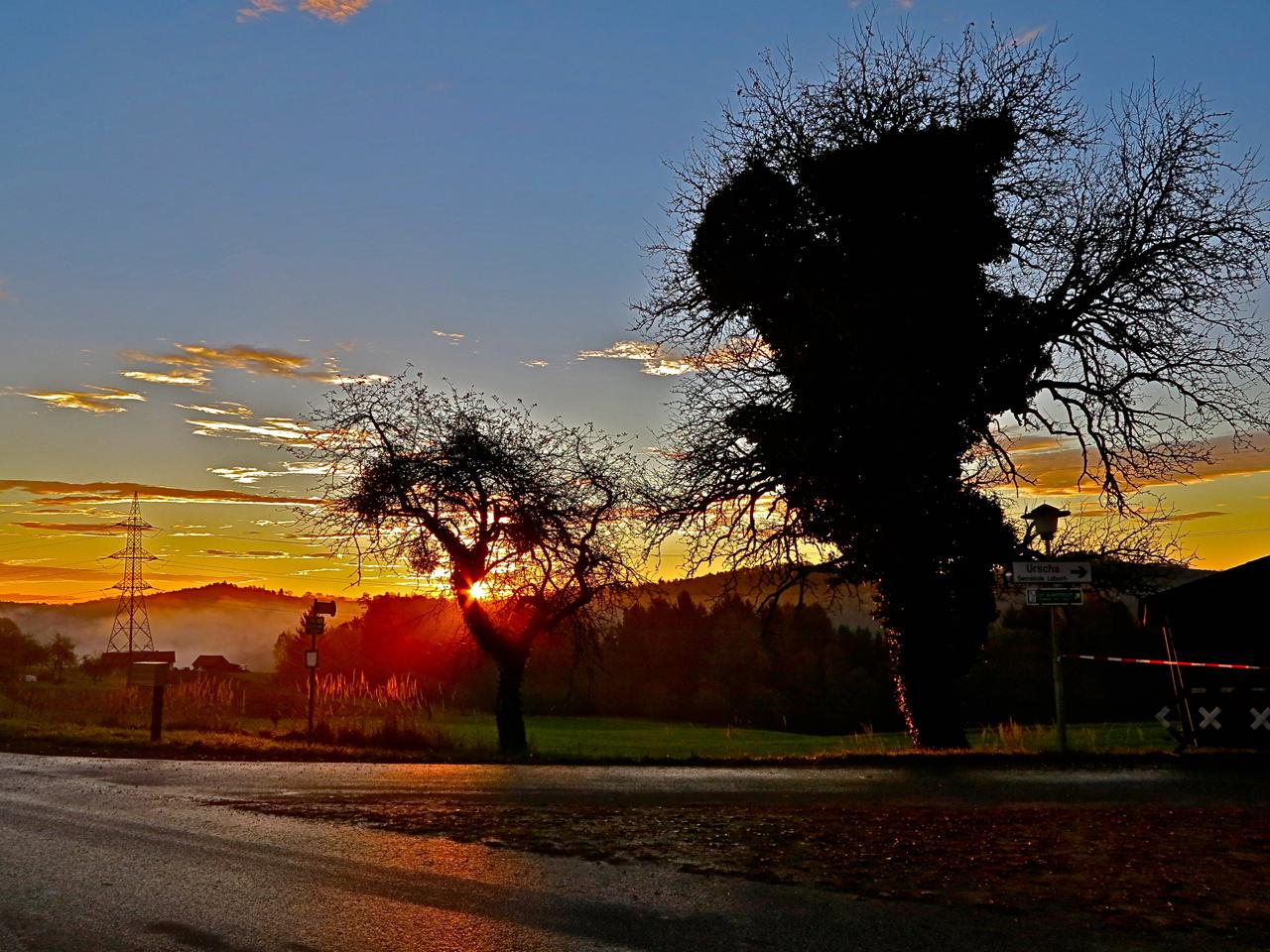 Sonnenaufgang in Ungerdorf