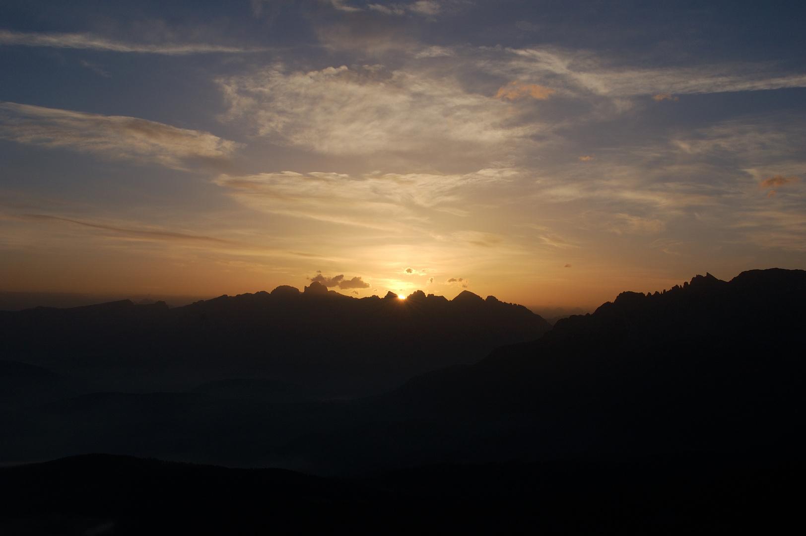 Sonnenaufgang in unseren Bergen