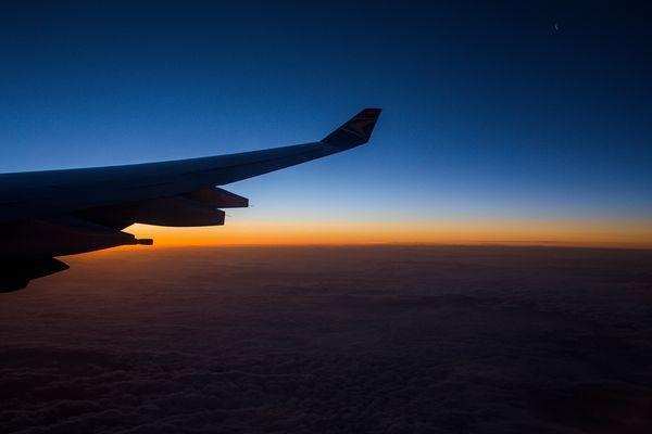 Sonnenaufgang irgendwo über dem Mittelmeer