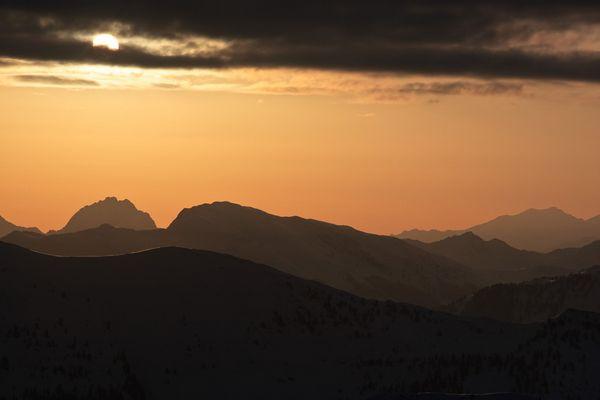 Sonnenaufgang Kitzbühler Alpen